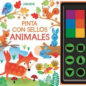 libro pintar con sellos
