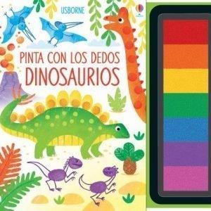 pinta con los dedos dinosaurios