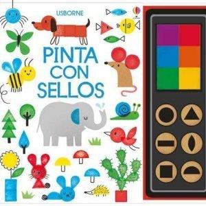 libro pinta con sellos