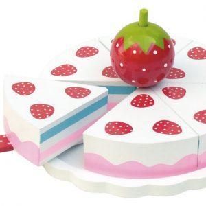 tarta de fresas de madera