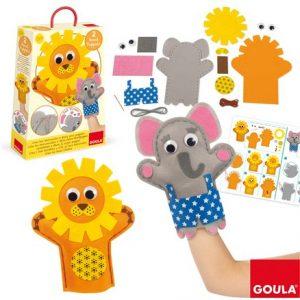 crea tus marionetas elefante y león