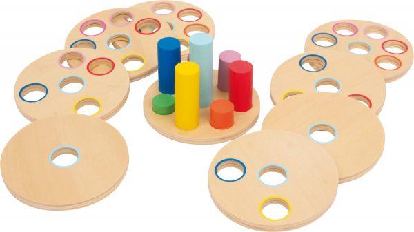 juego ensartar piezas