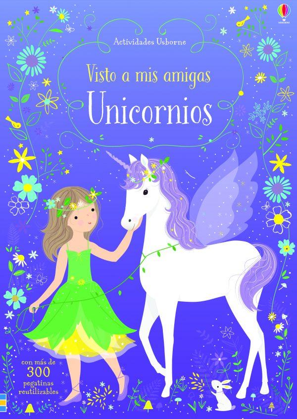 libro pegatinas unicornios