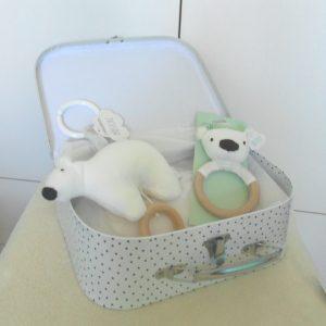 cesta bebé oso polar
