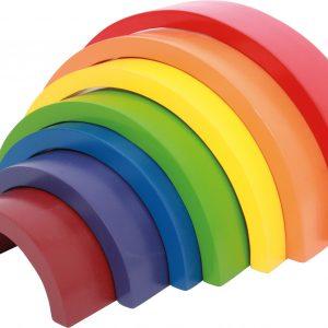 arcoíris de madera