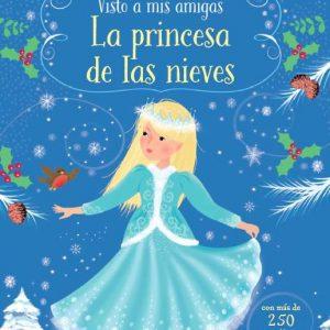 libro pegatinas princesa de las nieves