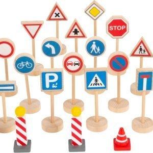 señales de tráfico de madera