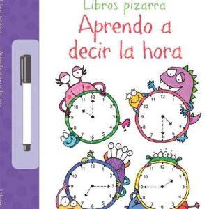 libro pizarra aprendo a decir la hora
