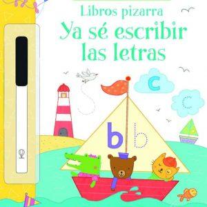 libro pizarra para que los niños aprendan a escribir las letras