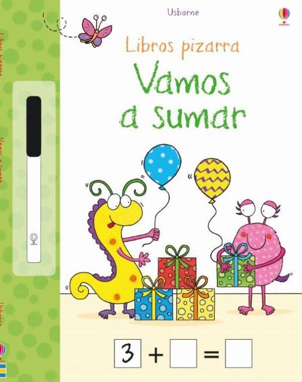 libro pizarra para que los niños aprendan a sumar