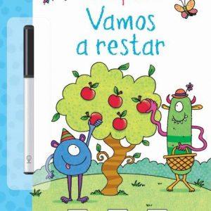 libro pizarra para que los niños aprendan a restar