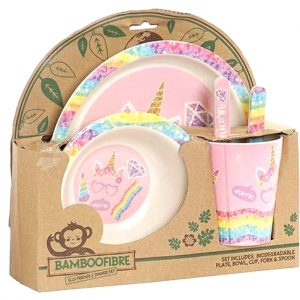 vajilla bambú unicornio_