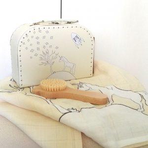 cesta para bebé unicornio