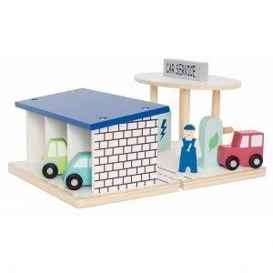 gasolinera de madera