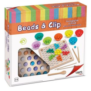 juego beads and clip