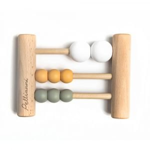 mini ábaco de madera